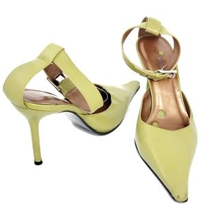 Bronx Women's Ankle Strap Point toe Heels